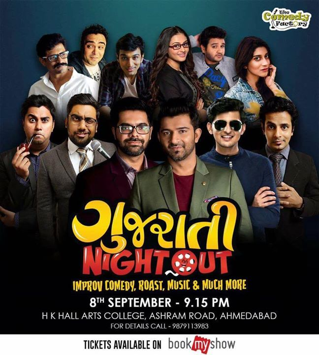 This is happening tommorow in AHMEDABAD. Its looks like a Gujju Celeb Mela. Cinema meets Comedy. Do not miss this.  There's Gonna be Madness.  BOOK YOUR TICKETS NOW>>> goo.gl/KpRvK5