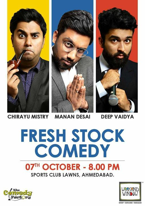 Performing some new content in Ahmedabad Tonight. At Weekend Window. Do come.