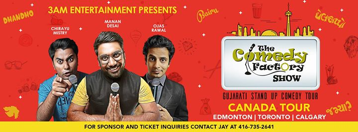 Up Next, CANADA TOUR. We are coming to Canada with power packed Gujarati Standup Comedy Show.  Get your tickets and find all the details in the link below.   25th May - Edmonton - https://bit.ly/2rOstO7 26th May - Toronto - https://bit.ly/2k9YThW 27th May - Calgary - https://bit.ly/2rTBEgh  3 AM Entertainment