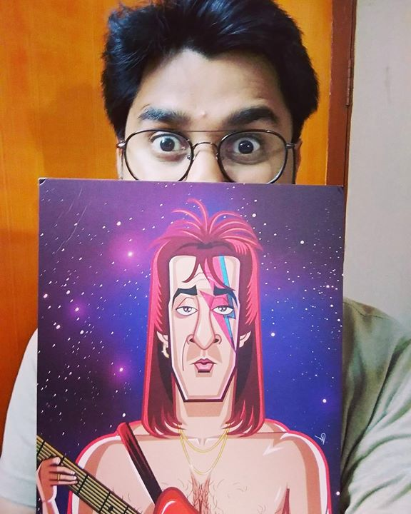 Thank you so much Prasad Bhat for making this Sanju Bowie Wall Art. This is supercool.  #graphicurry #sanju
