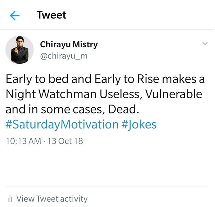 #SaturdayMotivation. #Jokes