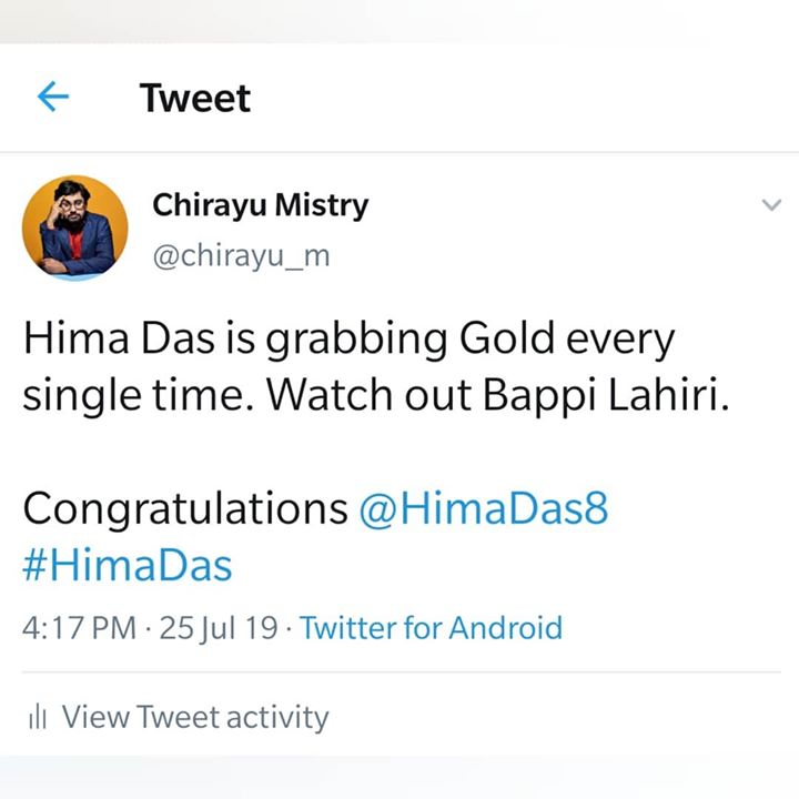 Hima Das is Savage. #mistrytweets  #comedy #funny #twitter #india #gold #proud
