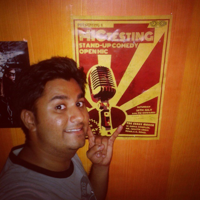 Kickass show at The shake maker....this poster is part of my wall now #ahmedabad #openmic #Host #comedy