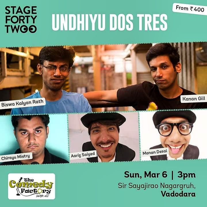 Biswa and Kanan are coming to vadodara on 6th March. At Sayajirao Nagar Gruh at 3 pm along with #thecomedyfactory  Tickets on insider.in  #kanan #biswa #gujarat #ahmedabad #surat #vadodara #pretentious #standup #comedy