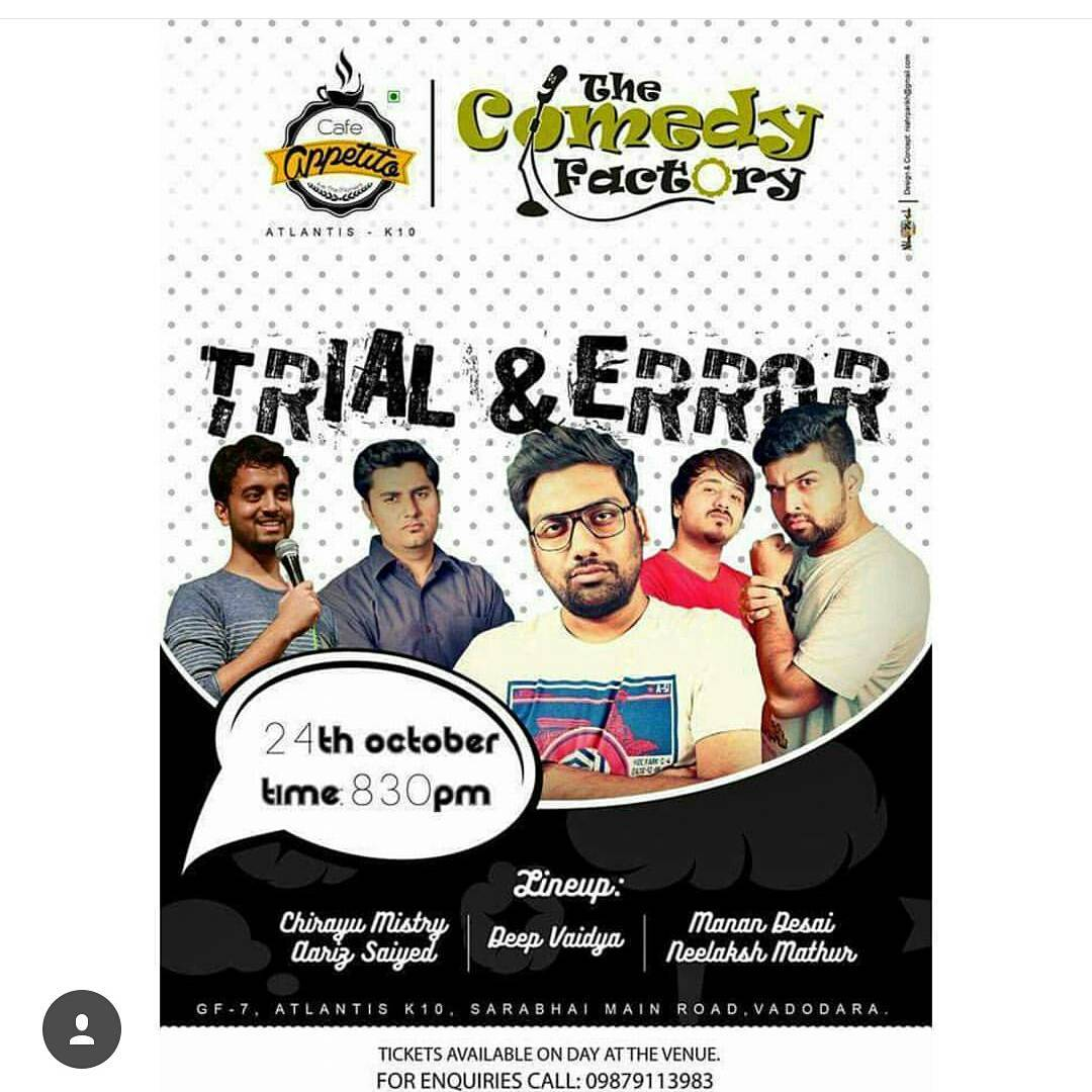 Vadodara, The Comedy Factory is trying all new content tommorow at this show called