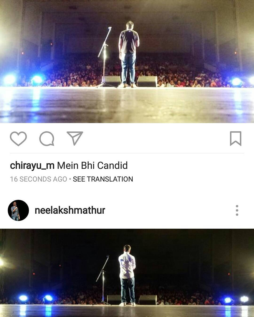 lol. When 2 comedians peform at the same venue at the same time. @neelakshmathur