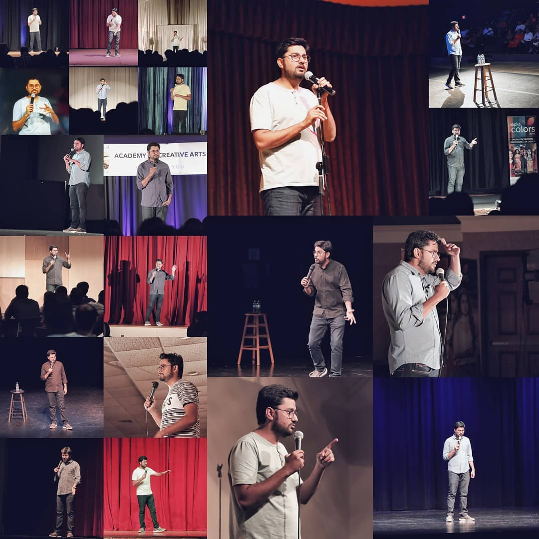 The Best School of Standup Comedy, The Stage. It was so much fun performing in USA and Canada. So much love from Gujaratis from both the countries.  Thank You so much @amitdpathak of BE UNITED and @meetul_patel of DREAM MERCHANTZ for amazing shows memorable road journeys in USA.  I am also Thankful to @jaydesai_910 and @khushi10_2000 of 3 AM ENTERTAINMENT for kickass shows in CANADA and amazing trips to Niagra, Jasper and Banff (Banff best). And Last but not the least, my fellow comedians @instafunny_manan , @ojasrawal and @nautankideep and our team of @thecomedyfactoryindia for all the support and efforts for all of these show.  I Love this Job. #StandupComedy #usa #canada #Gujarati #comedy #comedians  Also. Thank You so much @arpitaa_15 for making this collage.