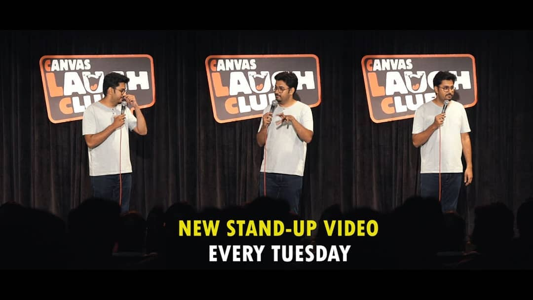 Teaser will be out tonight. #thecomedyfactory #canvaslaughclub #standupcomedy #videos #youtube