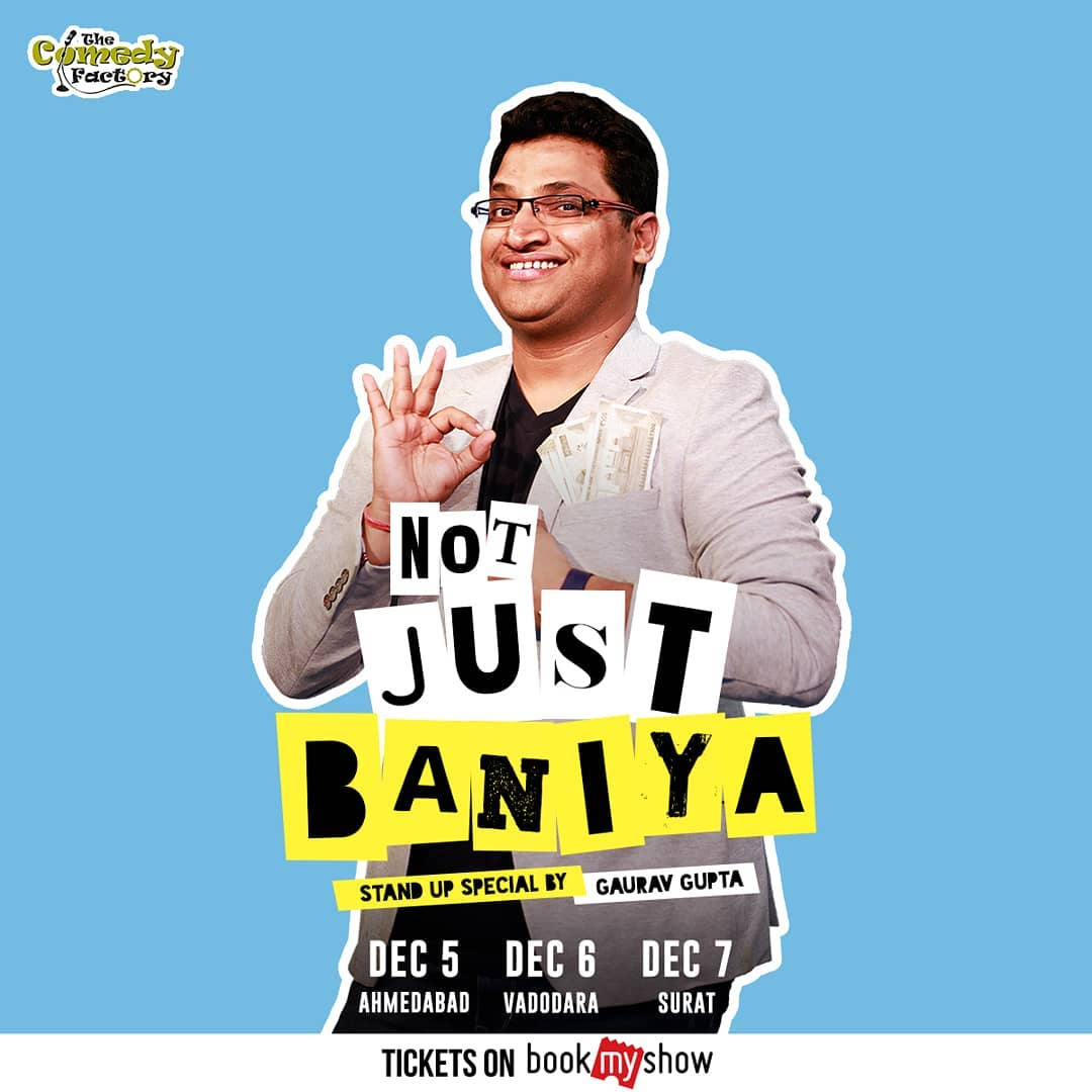 @gaurav_comic is performing his special in Gujarat. Do not miss this.  Tickets on BookMyShow.