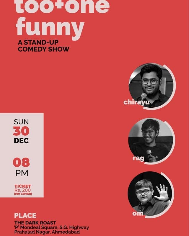 Performing tommorow at The Dark Roast Cafe, Ahmedabad. Come for some Curated Comedy. Ticket Link In my Bio. Limited Seats.