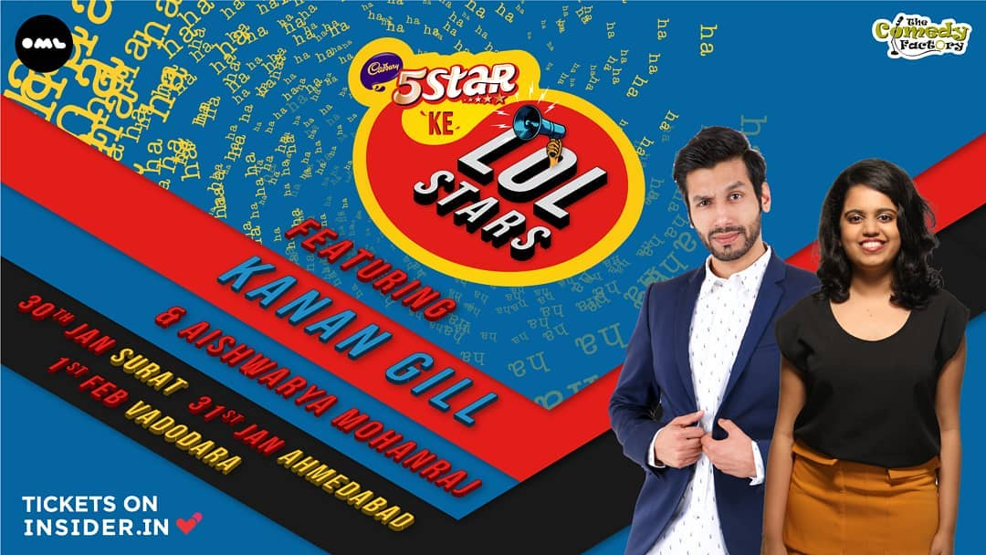 @kanangill and @aishwaryamrj are coming to Gujarat. Do not miss this show. (if you care about me.) Tickets on Insider.in