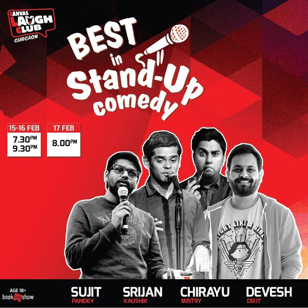 Performing in Gurgaon aka Gurugram with these amazing comedians at @canvaslaughclub . Ticket Link in Bio.