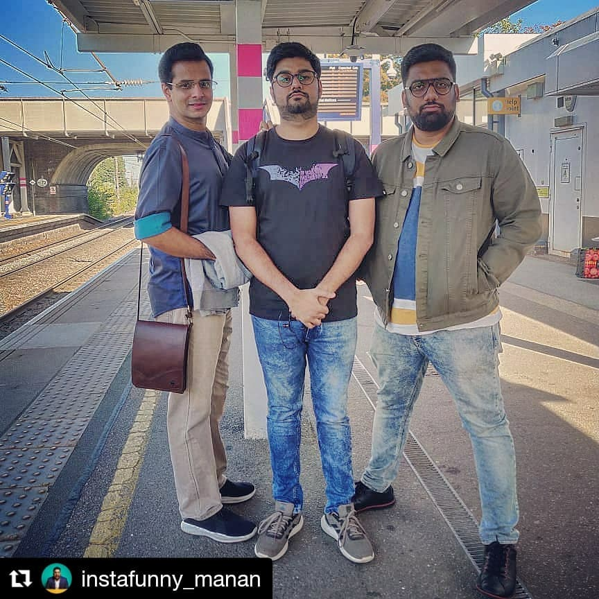 #Repost @instafunny_manan (@get_repost) ・・・ Rock n Rolla padi Gaya!!! Here in London.. performing for the first time.. Tomorrow in London and day after in Leicester. Details on @soccaevents  #AAVTIREHJE