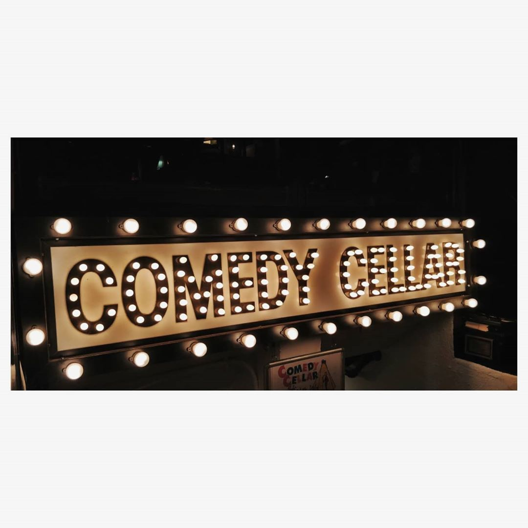 Throwback to one of the best nights of my life.  On 7th May 2018,  Me, @instafunny_manan and @nautankideep went to watch a comedy show at one of the best place for comedy on earth, COMEDY CELLAR. I had seen this place many times in many shows and videos, but imagining that i was walking through a corridor where legends like George carlin, Jerry Seinfeld, Garry Shandling, Dave Chapelle and don't know how many more stood gave me chills. I saw a comic perform a joke which i saw him performing 1 year back on a video on Youtube and the joke was completely different. It was like a full circle moment for me. And then when we went to just meet @comediangodfrey Who was the headliner act of that night, he invited us to hop along with him to a pub. Aisa mahol toh sirf new york mein hi ho sakta hai. I never imagined going to New York in the first place through comedy. Kudos to @thecomedyfactoryindia for that. But those 2 days in New York in between our US tour were just magical (and costly).
