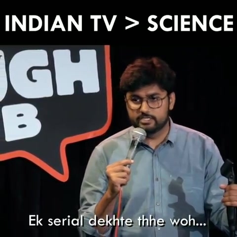 Indian Television is greater than science.  #standupcomedy #comedy #mondaymotivation #funnyvideos #canvaslaughclub #instagram #hindi #humor