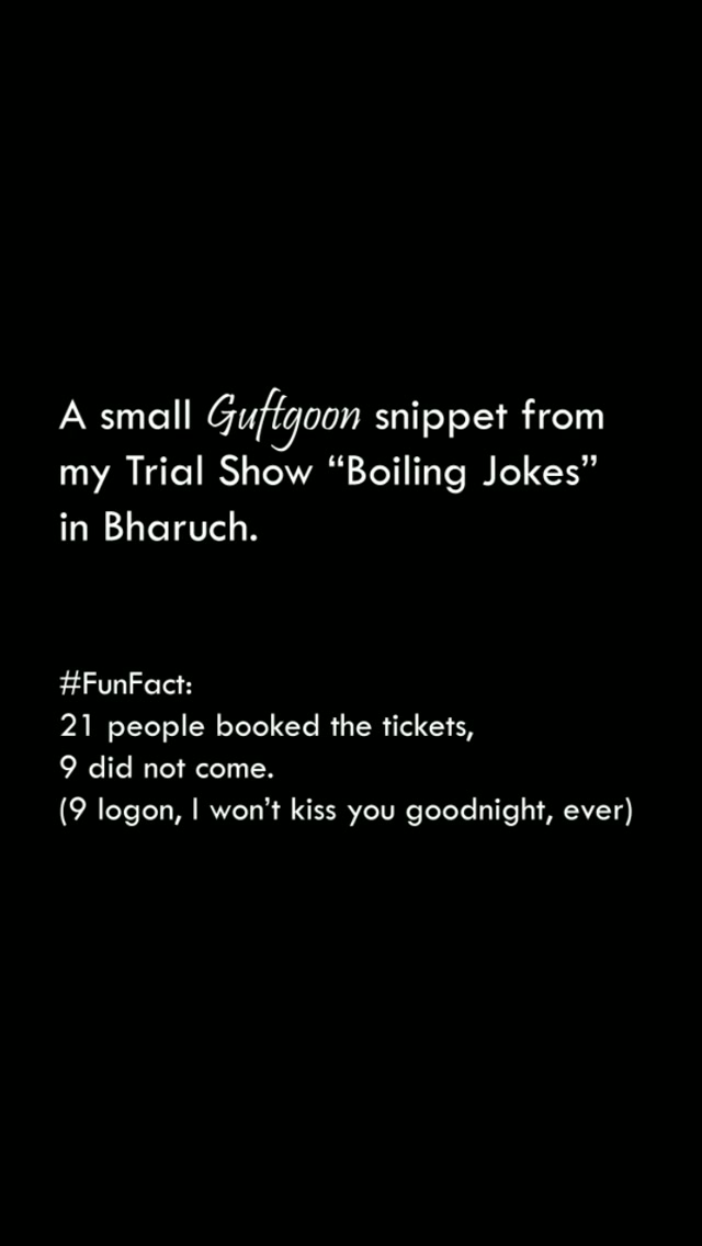 Sharing crowd work aka audience ke saath chhoti si Guftgoon with you guys.  Upcoming Shows: 22 Dec - The Comedy Factory's Wholesome Gujarati Comedy Show - NCPA, Mumbai *Tickets on BookMyShow*  27 Dec - Boiling Jokes (A Gujarati Trail Standup Show) - Vallabh Vidyanagar *Tickets on Insider.in*  #standupcomedy #comedy #comedian #crowd #audience #interaction #funny