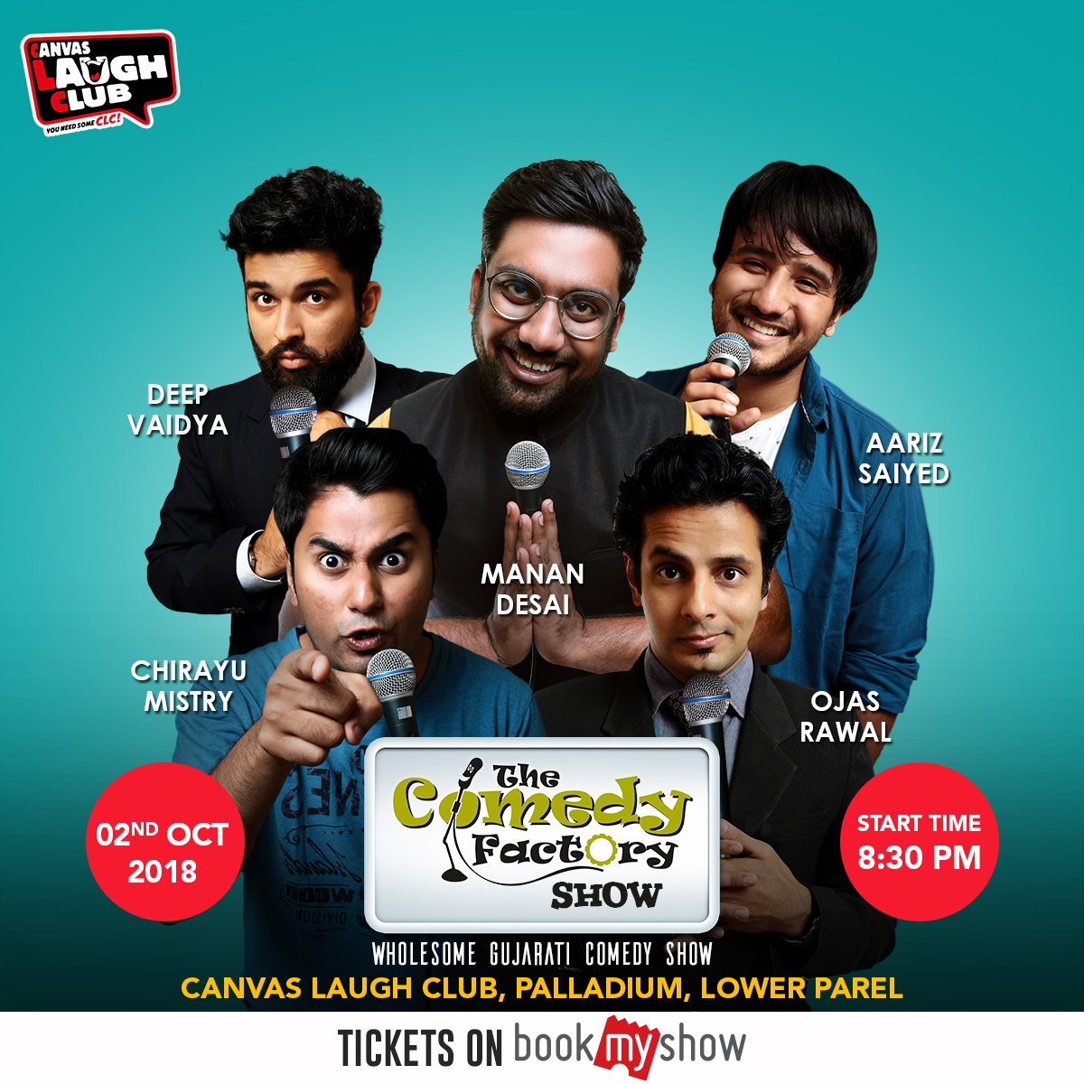 Tomorrow in Mumbai. આવી જાવ બધા ગુજરાતિઓ. #Mumbai #TheComedyFactory https://t.co/gz8eURVK0q