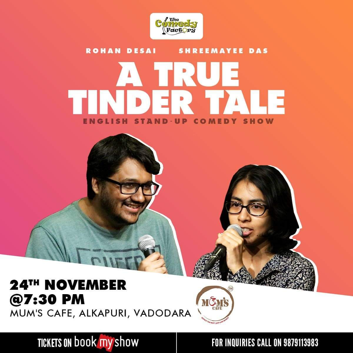 Vadodara folks, this is happening tonight. @MautKaPashinda & @weepli will tell you a true tinder tale. DO NOT MISS THIS. #vadodara https://t.co/Mr4DHsutxv