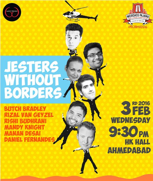 RT @TheWeirdass: Ahmedabad! #pajama2016 brings to you a show with a lot of accents.  Tix: https://t.co/nzkN1urZKl https://t.co/wQf4stHTFD